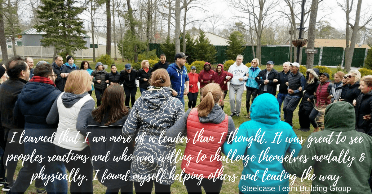 """""""I learned that I am more of a leader than I thought.  It was great to see people's reactions and who was willing to challenge themselves mentally and physically.  I found myself helping others and leading the way!"""""""