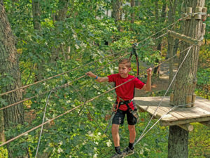 Junior Aerial Obstacle Course - Test your balance on a tightrope!