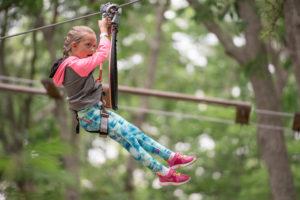 Zipline at Tree to Tree Adventure Park in Cape May NJ