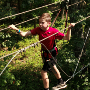 Junior Aerial Obstacle Course at Tree to Tree Cape May located in the Cape May County Park & Zoo