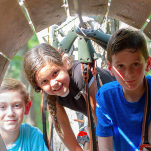Kids Aerial Obstacle Course at Tree to Tree Cape May located in the Cape May County Park & Zoo