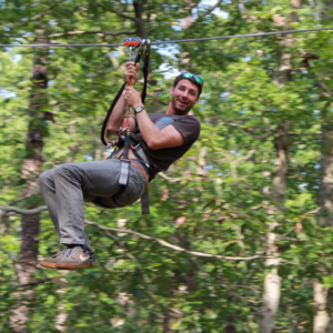 Zip Line Course at Tree to Tree Cape May in the Cape May County Park