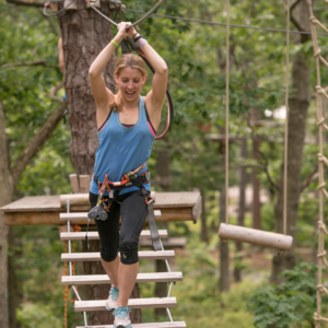 Adult Aerial Obstacle Course at Tree to Tree Cape May - located in the Cape May County Park!